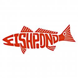 Fishpond Thermal Die Cut Sticker- Redfish - 8""