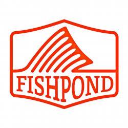 """Fishpond Thermal Die Cut Sticker- Dorsal Fin - 4"""" Orange"""