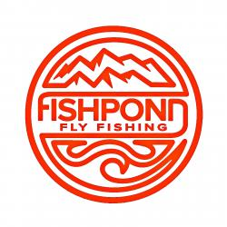 "Fishpond Thermal Die Cut Sticker- Headwaters - 4.5"" Orange"