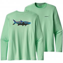 Patagonia Men's Graphic Tech Fish Tee Large Fitz Roy Tarpon: Vjosa Green