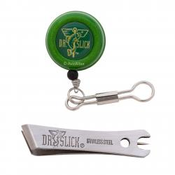 "Dr. Slick Green ""8"" Pin-On-Reel with Satin Offset Nippers Combo"