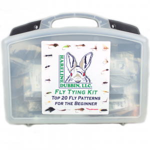 Hareline Beginner Fly Tying 48 Piece Materials Kit