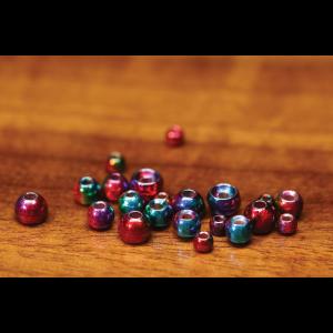Hareline Rainbow Hued Plummeting Tungsten Beads 3/32 (2.3mm)