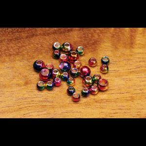Hareline Multihued Rainbow Brass Beads 5/32 (3.8mm)