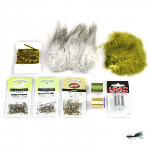 AvidMax Wooly Bugger Fly Tying Pattern Materials Kit Lunker