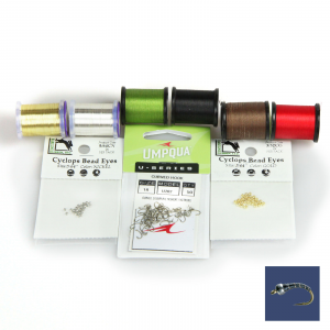 AvidMax Zebra Midge Fly Tying Pattern Materials Kit