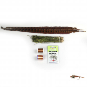 AvidMax Pheasant Tail Nymph Fly Tying Pattern Materials Kit Standard