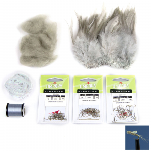 AvidMax Sparkle Wing RS2 Fly Tying Pattern Materials Kit Lunker