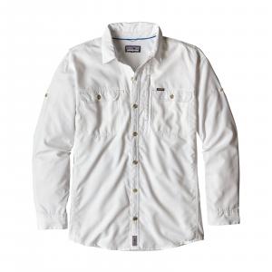Patagonia Men's Long Sleeve Sol Patrol II Shirt Large White