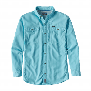 Patagonia Men's Long Sleeve Sol Patrol II Shirt Large Cuban Blue