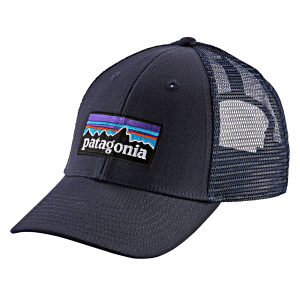 Patagonia P-6 Logo LoPro Trucker Hat Navy Blue w/Navy Blue