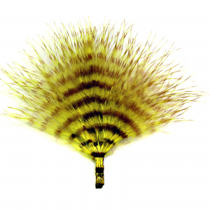 MFC Mini Barred Marabou Yellow/Brown