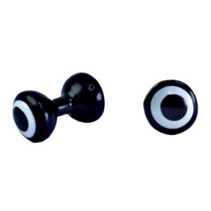MFC Tri-Painted Lead Dumbbell Eyes Black/White/Black 4.0 mm