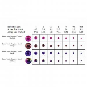 """MFC Tungsten Lucent Beads Deep Blue 3/32"""" (2.4 mm)"""