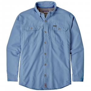 Patagonia Men's Long Sleeve Sol Patrol II Shirt Large Railroad Blue