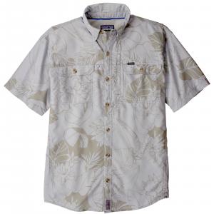 Patagonia Men's Short Sleeve Sol Patrol II Shirt Large Valley Flora: Tailored Grey