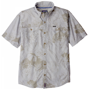 Patagonia Men's Short Sleeve Sol Patrol II Shirt Medium Valley Flora: Tailored Grey