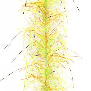 Fair Flies Predator Fly Tying Brushes Predator I - Hot Orange/Chartreuse