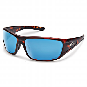 Suncloud Optics Tribute Sunglasses Matte Tortoise Polarized Blue Mirror