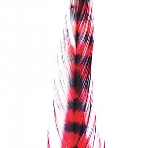 MFC Barred Saddle Hackle Red/Black