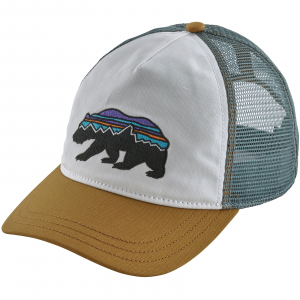 Patagonia Women's Fitz Roy Bear Layback Trucker Hat (2018/19) White w/Kastanos Brown