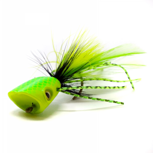 Surface Seducer Double Barrel Bass Bug Popper Bodies #6 Yellow Chartreuse
