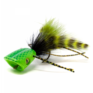 Surface Seducer Double Barrel Bass Bug Popper Bodies #6 Green Chatreuse