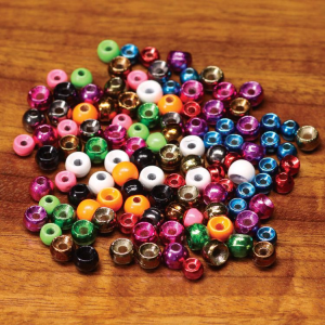 "Hareline Plummeting Tungsten Beads 7/32"" Metallic Light Pink"