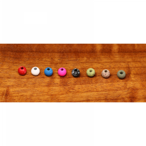 """Hareline Mottled Tactical Tungsten Beads 1/8"""" Olive"""