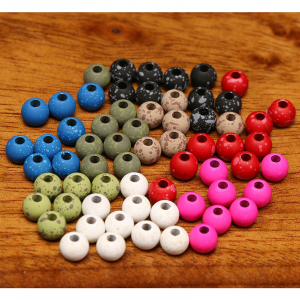 """Hareline Mottled Tactical Slotted Tungsten Beads 5/64"""" Pink"""