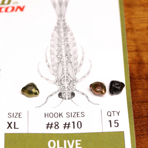 Flymen Fishing Co EVO Mayfly Swimmer & Burrower Tungsten Beadheads Medium Olive
