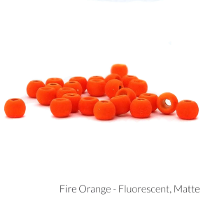 "Firehole Matte Tungsten Beads 1/8"" Fire Orange Matte"