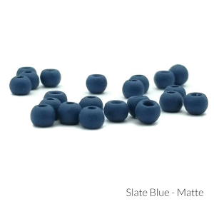 "Firehole Matte Tungsten Beads 9/32"" Slate Blue Matte"