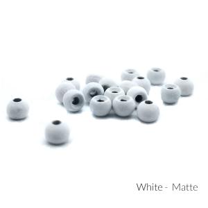 "Firehole Matte Tungsten Beads 3/32"" White Matte"
