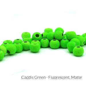 """Firehole Matte Tungsten Beads 5/32"""" Caddis Green Matte"""