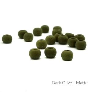 """Firehole Matte Tungsten Beads 3/32"""" Dark Olive Matte"""