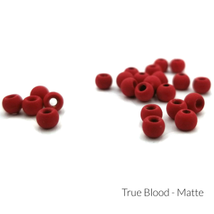 "Firehole Matte Tungsten Beads 1/8"" True Blood Matte"