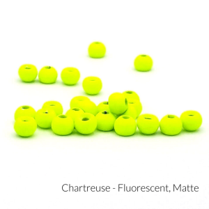 """Firehole Matte Tungsten Beads 9/32"""" Chartreuse Matte"""