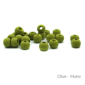 "Firehole Matte Tungsten Beads 5/32"" Olive Matte"
