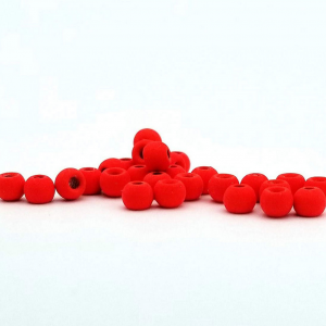 "Firehole Matte Tungsten Beads 3/32"" Screaming Red Matte"