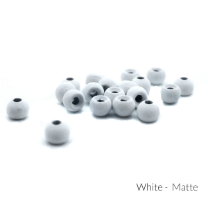 "Firehole Matte Tungsten Beads 5/64"" White Matte"