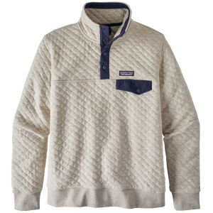 Patagonia Women's Organic Cotton Quilt Snap-T(R) Pullover Medium Birch White