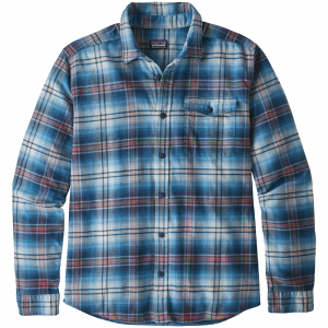 Patagonia Men's Long-Sleeved Lightweight Fjord Flannel Shirt Medium Bad Ombre: Lumi Blue