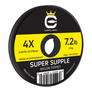 Cortland Super Supple Nylon Tippet 4X - 7.2 lbs.