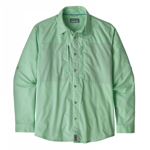 Patagonia Men's Long-Sleeved Sun Stretch Shirt Whole Weave: Vjosa Green M