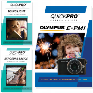 Olympus E-PM1 DVD 3 Pack Light & Exposure Instructional Bundle