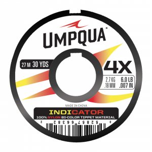 Umpqua Two-Color Neon Bite Indicator Tippet Red/Yellow 4X
