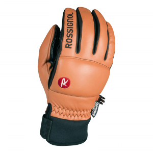 Rossignol Caress-Of-Steel Ski Gloves Leather Natural Tan / Black Large