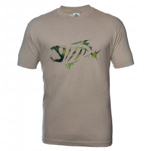 G Loomis Corpo SS Short Sleeve Cotton Men's Crewneck T Shirt Sand/Camo M