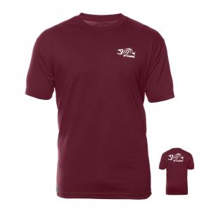 G Loomis Ricochet SS Short Sleeve Crewneck Cotton T Shirt - Burgundy/White XL